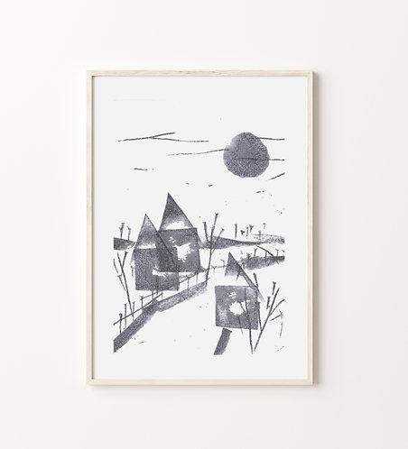 "Poster ""Wintermorgen"""