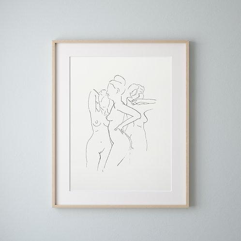 "Poster ""Frauenakt No. 3"""