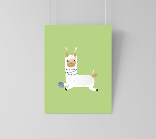 "Poster ""Green Lama"""