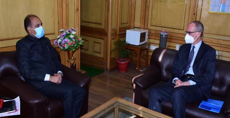 मुख्यमंत्री से भारत में स्विट्जरलैंड के राजदूत ने भेंट की