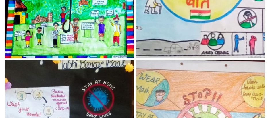 The NSS unit of the Government College, Rajgarh organized a poster making competition.