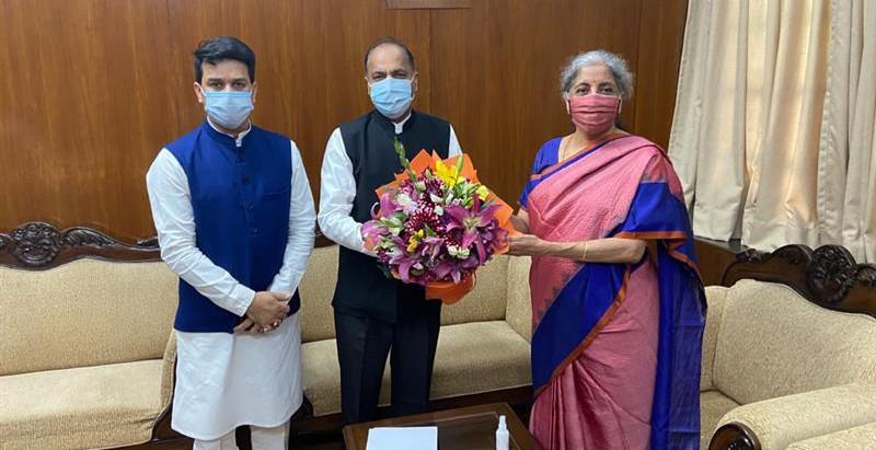 मुख्यमंत्री ने केन्द्रीय वित्त मंत्री से प्रदेश के लिए 1420 करोड़ जारी करने का आग्रह किया