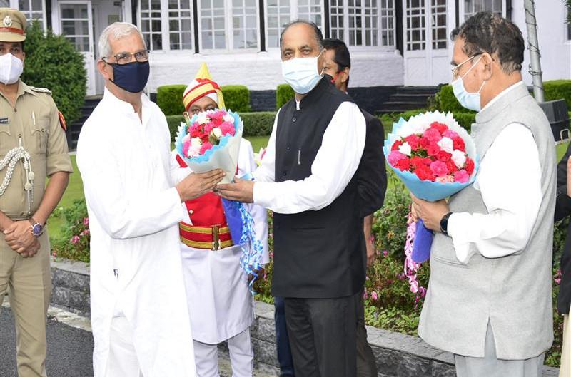 शिमला पहुंचने पर राजेंद्र विश्वनाथ आर्लेकर का अभिंनदन