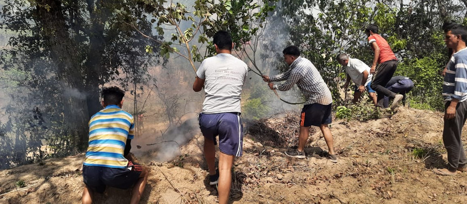 रामशहर के निकट रामपुर में आग से गेहूं की फसल जल कर राख, स्थानीय लोगों की सहायता से काबू पाया