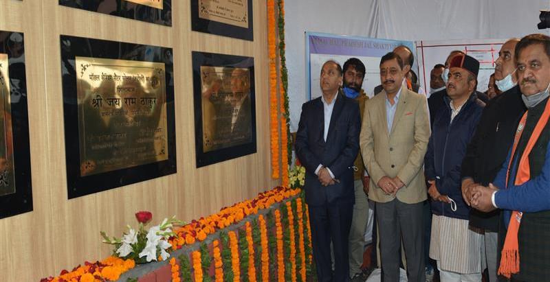 मुख्यमंत्री ने सोलन में 34 करोड़ रुपये लागत की परियोजनाओं के लोकार्पण और शिलान्यास किए