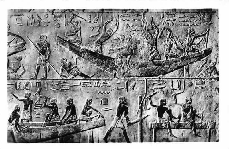 Construction of an Egyptian ship