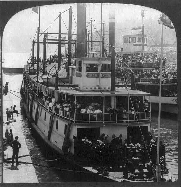 Hogging trusses on a steam riverboat