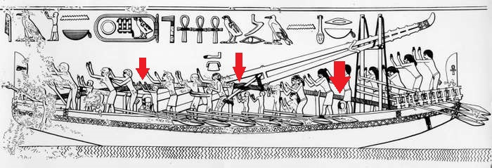 Hogging truss depicted on ancient Egyptian relief