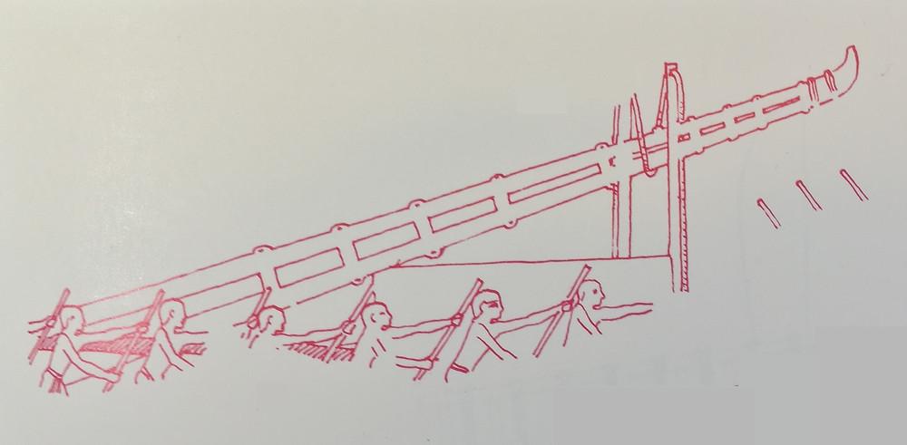 Lowered mast