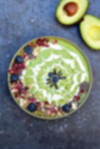 "Halloween ""Avoween""  Black Widow Smoothie Bowl. from Avocados from Peru. Recipe here."