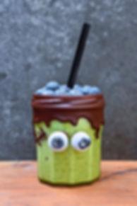 "Halloween ""Avoween"" Frankenstein drink from Avocados from Peru. Recipe here."