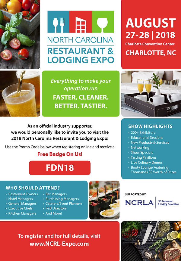 North Carolina Restaurant & Lodging Expo Food Fair Magazine