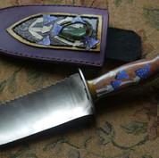 Garden knife and ornate sheath