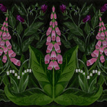 Digitalis fabric pattern
