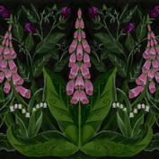Digitalis fabric pattern