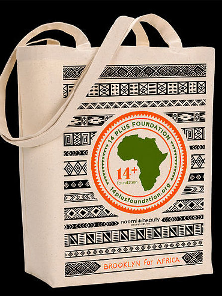 Brooklyn for Africa Canvas Tote Bag