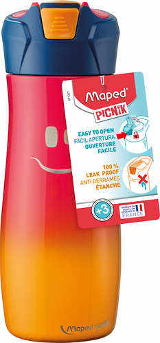 MAPED - CONCEPT ENFANTS GOURDE INOX SIMPLE PAROI 580ML ROSE