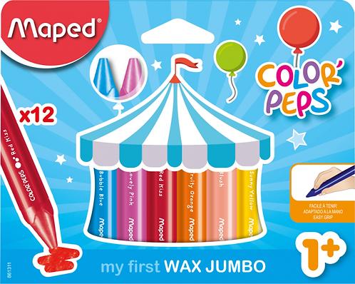 Maped Craies de coloriage en cire Color'Peps Maxi Jumbo x12