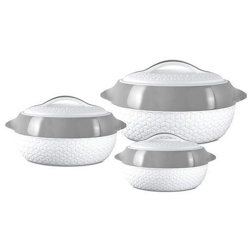 Milton Hotpot Casserole Matrix Series 3pcs Set - White/Grey