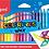 Thumbnail: Maped Crayons cire doux aux couleurs vives x24