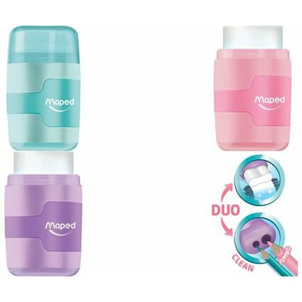 Maped Gomme Connect 2-trous Pastel