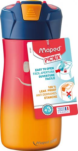 MAPED - ENFANTS GOURDE INOX SIMPLE PAROI 430ML ROSE