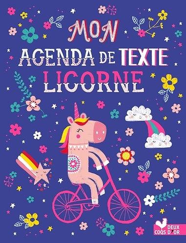 Hachette Mon Agenda De Texte Licorne