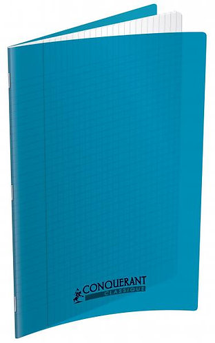 Conquerant Cahier Polypro 24X32 96P 90g Seyes Turquoise