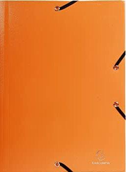 Exacompta - Chemise 3 rabats en polypro A4 Orange