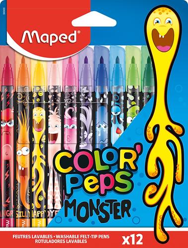 Maped Feutre Color Peps Monster x12