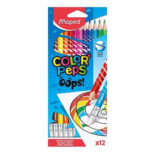 Maped Crayons de couleurs Oops effaçables