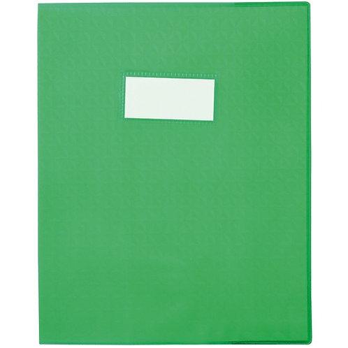 Protège cahier très épais 17x22 vert clair opaque