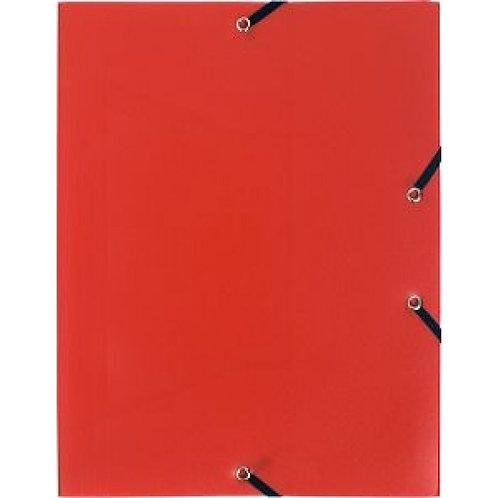 Exacompta Chemise à élastique PVC A4 Rouge