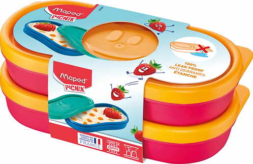 MAPED CONCEPT KIDS FIGURATIVE SNACK BOX X2 PINK