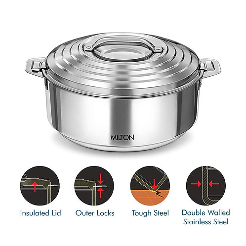 Milton Galaxia Insulated Stainless Steel Casserole, Silver
