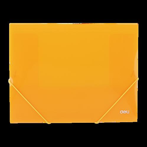 Deli Chemise à élastique plastifiée A4 Orange