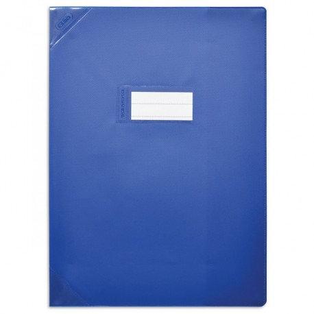 Protège cahier très épais 24x32 bleu