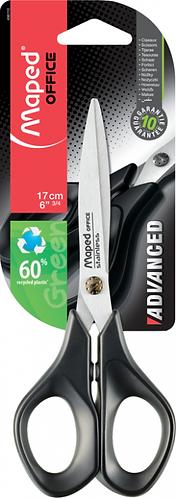 Maped Ciseaux Advanced Green 17cm-anneaux Ergonomique 496110