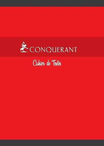 Conquerant  - Cahier de texte (17 x 22) 70g Seyes