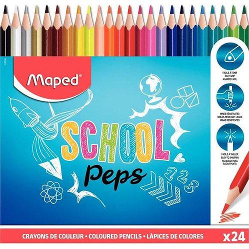 Maped Crayon School Peps X24