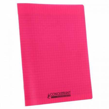 Conquerant Cahier Polypro 24X32 96P 90g Seyes Rose