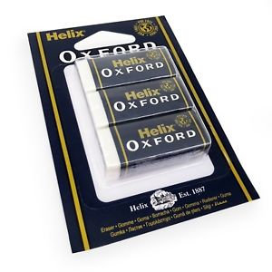 Oxford Small Sleeved Eraser X3 Blister