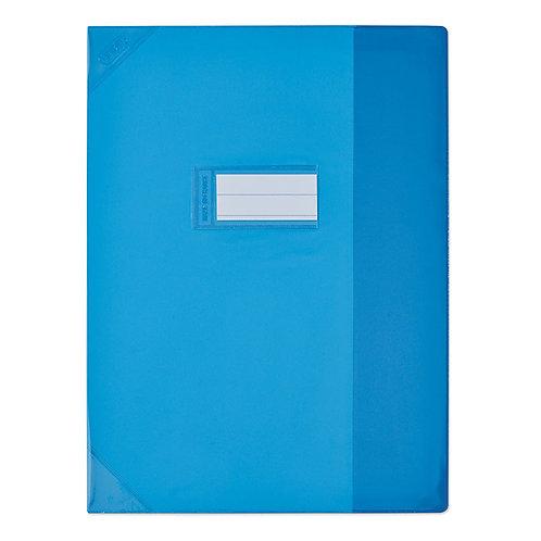 Protège cahier très épais 17x22 bleu clair opaque