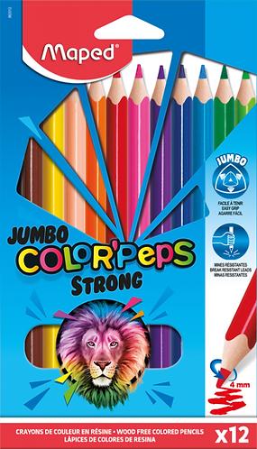 Maped Crayons de couleurs  Strong ultra-résistants (Jumbo)