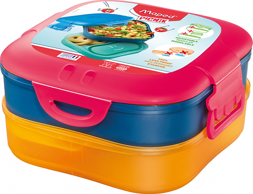 MAPED CONCEPT KIDS FIGURATIVE LUNCH BOX 3-IN-1 PINK