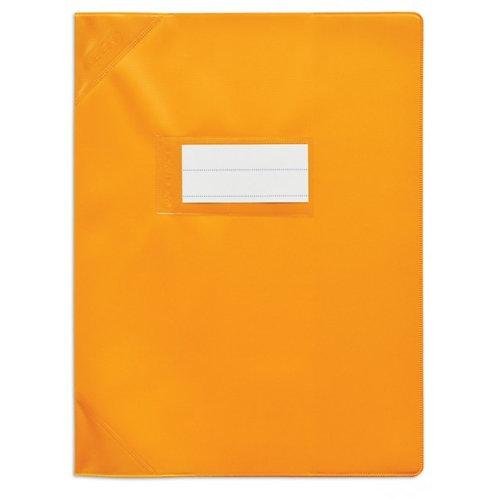 Protège cahier très épais 17x22 orange opaque