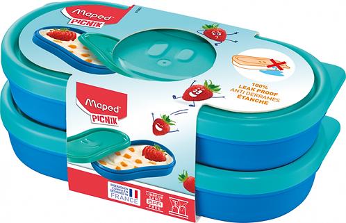 MAPED CONCEPT KIDS FIGURATIVE SNACK BOX X2 BLUE