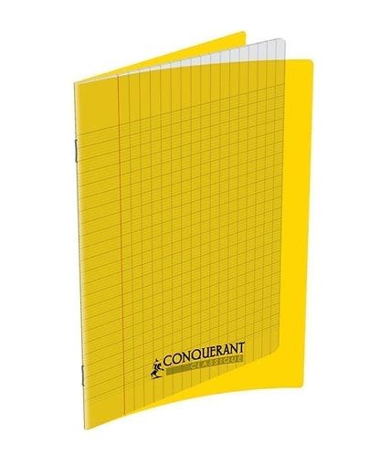 Conquerant  - Cahier Polypro Jaune 60 pages (17 x 22 - Seyes - 90g)