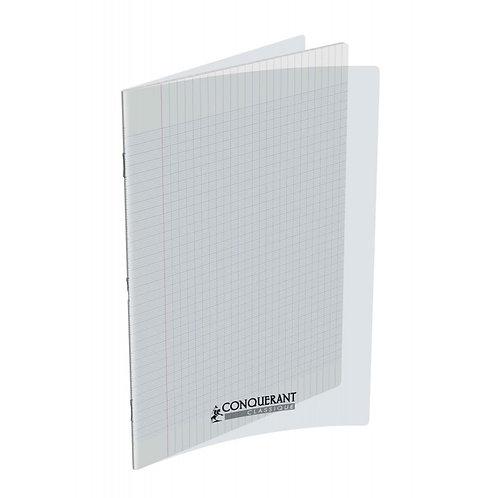 Conquerant - Cahier Polypro Transparent de 48 pages 24x32 – Seyes (PAS TP) 90g