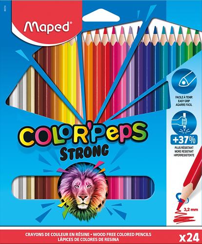 Maped Crayons de couleurs ultra-résistants x24